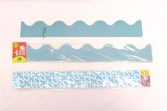 Lot of 2 Classroom Sunday School Wall Boarders Teal Blue White Jesus Fish
