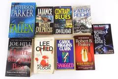 Lot of 9 Books Thriller Suspense Murder Death Kill The Fallen Devil Bones