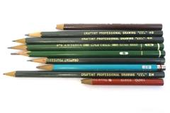 Lot of 9 Vintage Art Pencils Craftint Professional Drawing Berol A.W. Faber