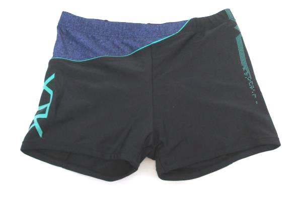 JH XTK Black Teal Blue Drawstring Waist Active Shorts Women's Size XL