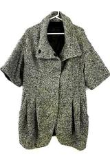 Plastic Island Black & White Women's Designer Jacket Size Small