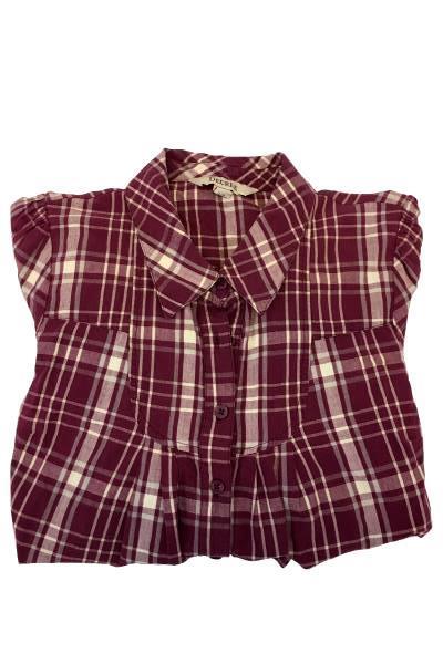 Decree Women's Purple Striped Button Up Long Sleeve Shirt Size Large L/G