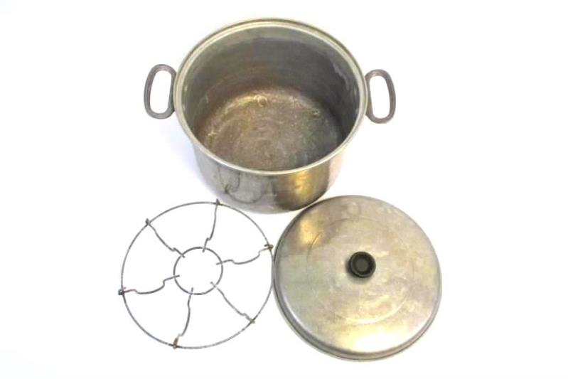 Vintage Comet The Popular Aluminum Stock Pot With Lid and Steam Rack