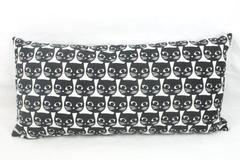 "Canvas Black White Mini Body Pillow Cat Pattern 21"" x 10"" Bed Decorations"