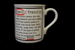 Hallmark Cards Inc Friend Coffee Mug Cup White Dictionary Definition of