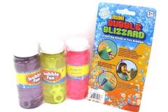 Bubbles Lot Kids Outdoor Play Bubble Blizzard Kit 3 Bottles Mix Ages 3 and Up