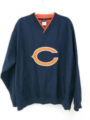 NFL Team Apparel Windbreaker Pullover Jacket CHICAGO BEARS Pockets Mens Large