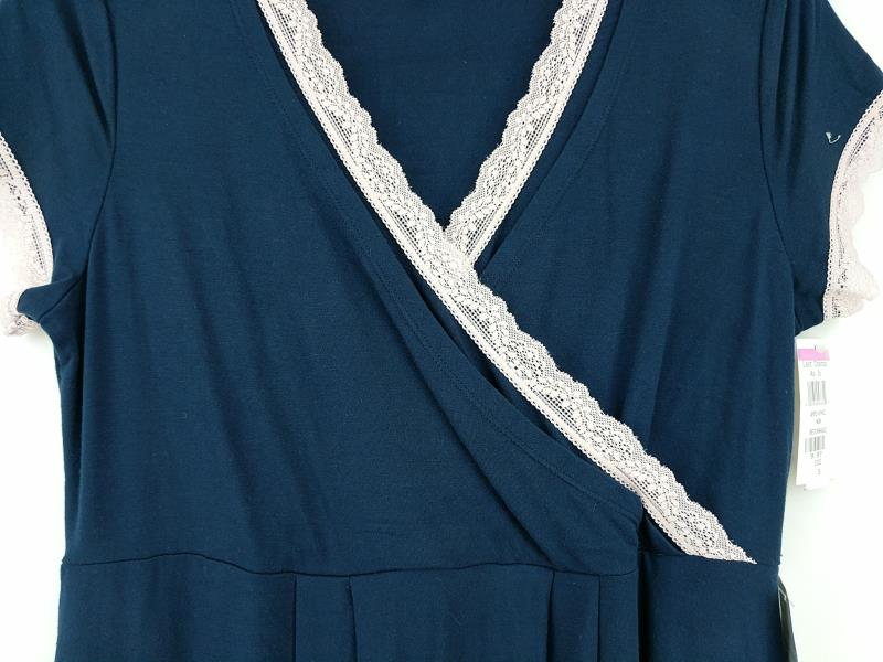 "KIMI + KAI MATERNITY ""Jenny"" Navy Blue Nursing Nightgown Dress Knit Sz S New"