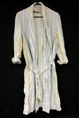 Vintage State-O-Maine Lightweight Striped Robe Collared Tie Belt Men's Size L
