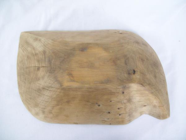 Ornate Wood Hand Carved Bowl Display Rustic Home Decor Display
