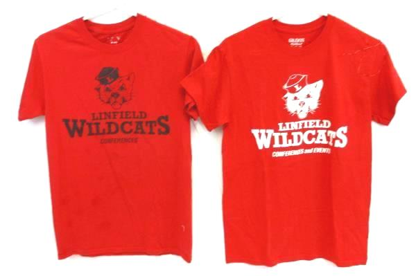 Linfield College Wildcats Lot Red Conferences Events T-Shirts Adult Unisex S