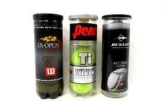 Lot of 9 Tennis Balls Penn Wilson US Open Dunlop All Court Tubes