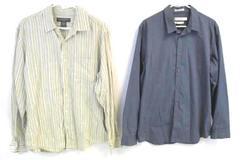 Lot of 2 Men's Button Down Casual Shirts Size L Banana Republic Calvin Klein
