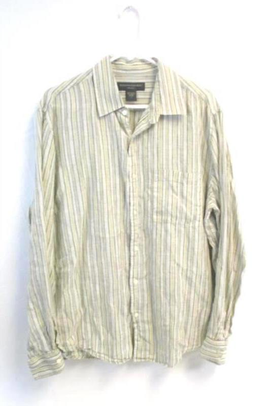 Lot of 2 Men's Button Down Casual Shirts Size L Banana Republic Calvin Klein