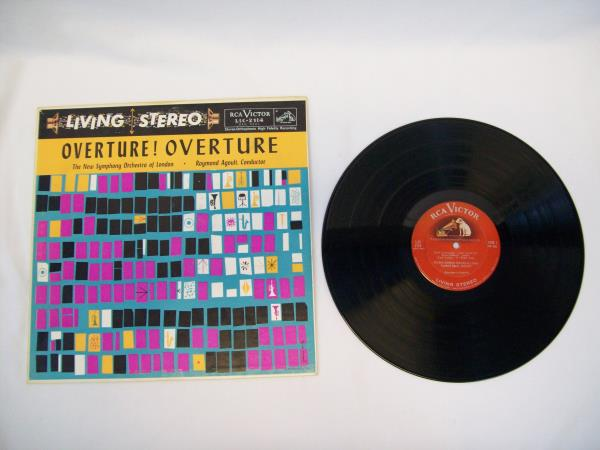 Overture! The New Symphony Orchestra Of London Vinyl Record Raymond Agoult 1958