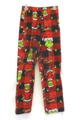Dr. Seuss The Grinch Red Fleece Children's Unisex Pajama Pants Size 10