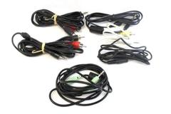 Lot of 6 Auxiliary Cords RCA To Aux Home Audio Different Lengths Various