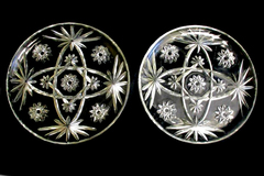 Lot of 2 Vintage Anchor Hocking Snack Plates Prescut Clear 10 in