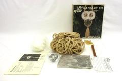 Vintage 1978 Hazels Kaboodles Fibre Macrame Owl Kit Feathers Complete HK-88
