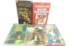 Lot of 5 Vtg Paperbacks Romance Mystery Thriller Shrouded Tower Proud Citadel