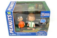 Memory Lane Peanuts Marice & Peppermint Patty Baseball Dugout Playset Sealed