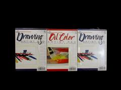 """3 Royal And Langnickel Essentials Artists Pads 2 Drawing 1 Oil Color 5"""" x 7"""""""