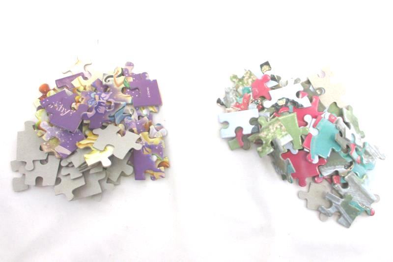 349 Jigsaw Puzzle Pieces For Crafting DIY Upcycle Fun Girly Designs