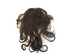 Brunette Brown Wig Hair Piece Costume Accessory Pin On Curly Highlights