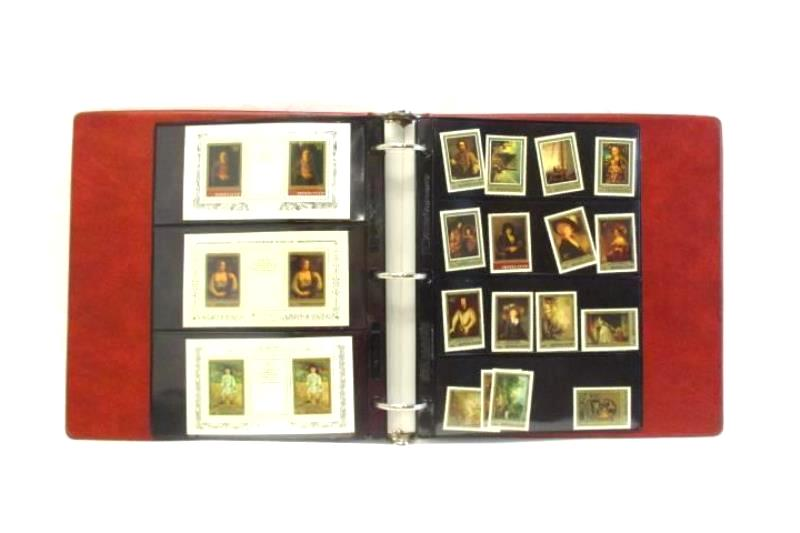 Notebook With Russian Art Stamps Souvenir Sheets Dated 1982-1985