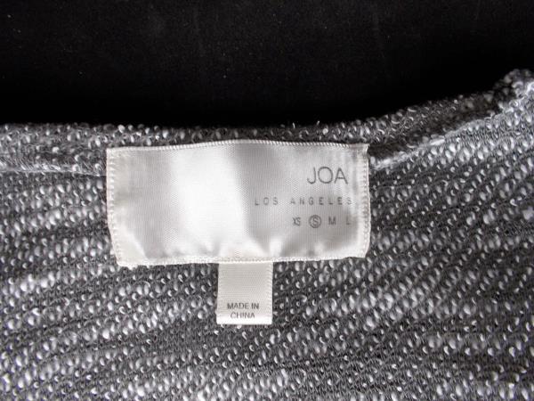 JOA Top Long Sleeve Hooded Grey Terry Mesh Oversize Sweatshirt Sweater Womens S