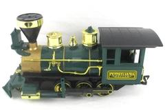 Scientific Toys G Gauge Pennsylvania 9714 Locomotive Engine Green Gold