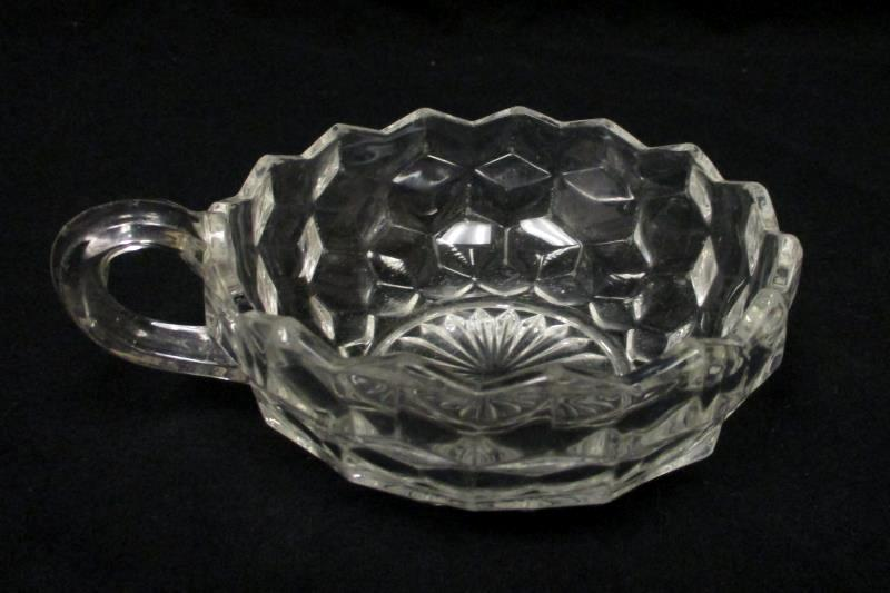 Vintage Fostoria American Handled Nappy Clear 5.75 in