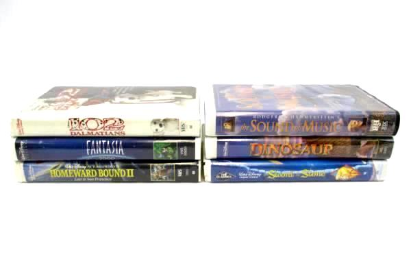 Lot of 6 Family Disney VHS 20th Century Fox Classics pre-owned