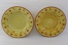 Set of 2 Fitz and Floyd Bowls Del Vino Grapevine Salad Pasta Tuscan Style