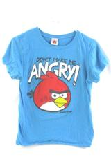 Fifth Sun T-Shirt Kids Angry Birds Graphic Blue Don't Make Me Angry Size Large