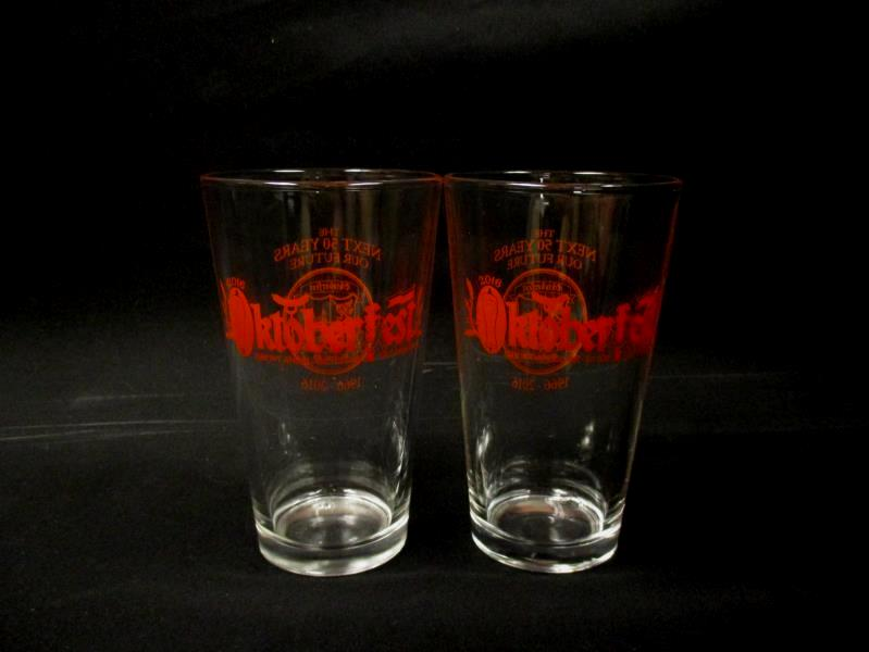 Set of 2 Glasses Mt. Angel Oregon Oktoberfest 50th Anniversary 1966- 2016