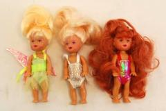 Lot of 3 Little Fairy Dolls Blond Red Hair With Outfits 5 Inch Play Toys
