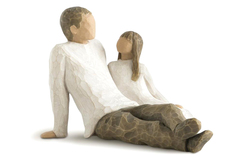 Willow Tree Father and Daughter Figurine Demdaco