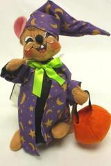 Annalee Trick or Treat Wizard Mouse Purple Brown Halloween Decor 6in