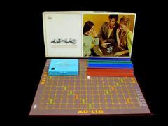 Vintage 1970 Ad-Lib Board Game E.S. Lowe Company Original Box No Bag