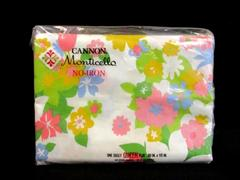 Vintage Cannon Monticello Queen Flat Sheet No Iron Muslin Mille Fleurs Sealed