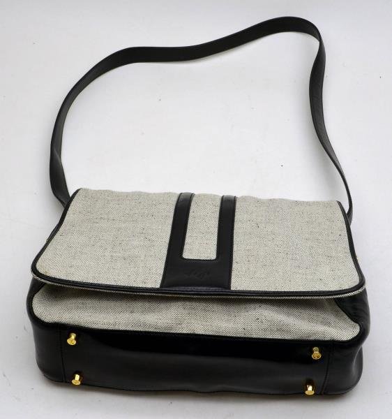 MONSAC S0310F Original Leather Black Onyx Shoulder Bag Purse NWT