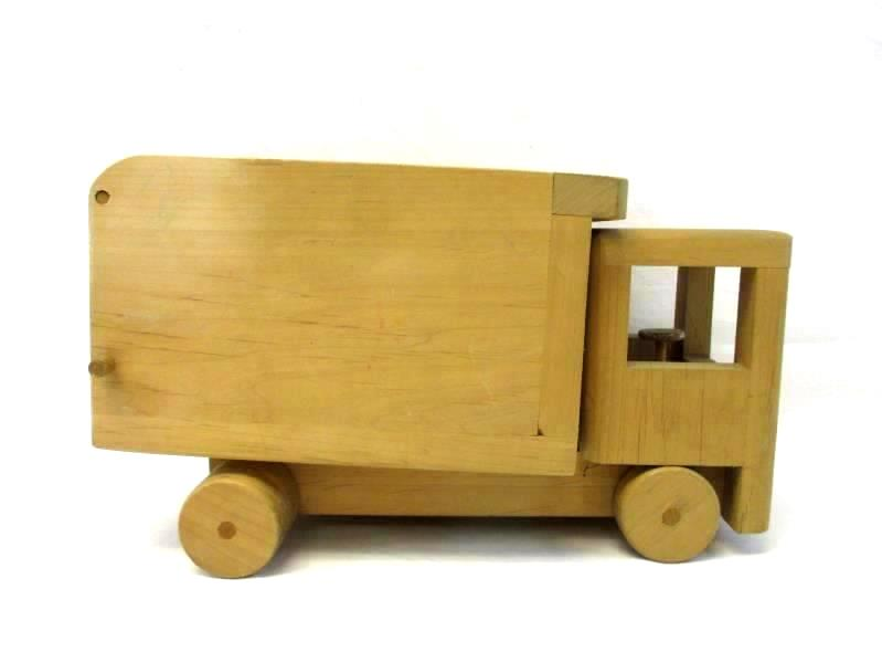 Vintage Wooden Dump Truck Toy Working Large Handcrafted