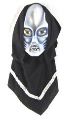 Adult Size Rubber Alien Mask And Attached Cowl Halloween Costume