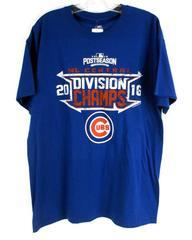 CHICAGO CUBS 2016 Division Champs Major League Baseball Men's T-Shirt L - NWT
