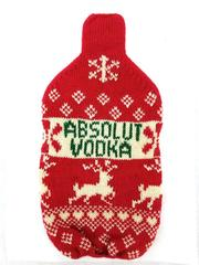 Absolut Vodka x Cynthia Rowley Knit Bottle Cozy Holiday Christmas Sweater