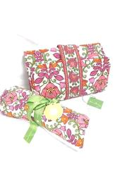 Vera Bradley Baby Changing Pad Clutch and Recieving Blanket-Lilli Bell