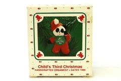 Handcrafted Hallmark Keepsake Ornament Dated 1986 Panda Child's 3rd Christmas