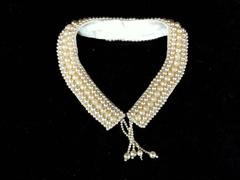Vintage Faux Pearl Collar Costume Jewelry Ivory For Parts or Repair