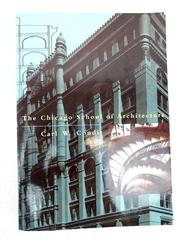 The Chicago School of Architecture by Carl W. Condit 1998 Paperback